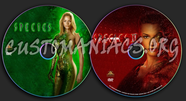 Species dvd label
