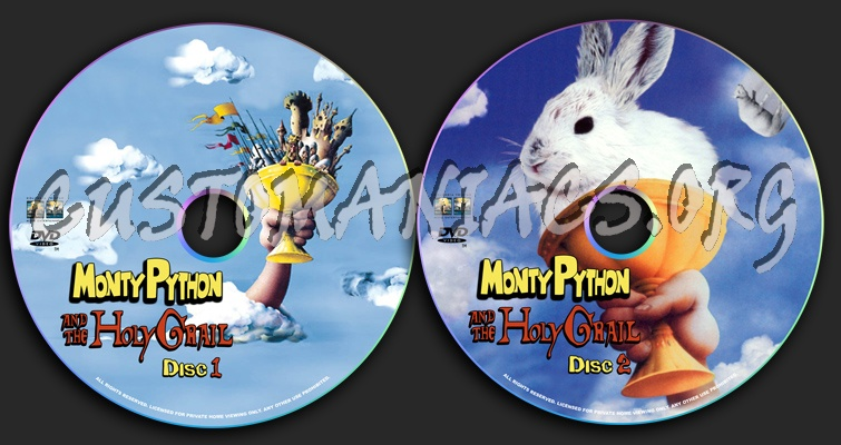 Monty Python and the Holy Grail dvd label