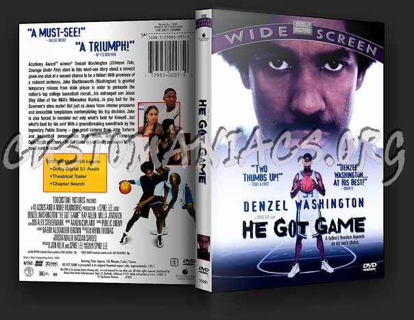 He Got Game dvd cover