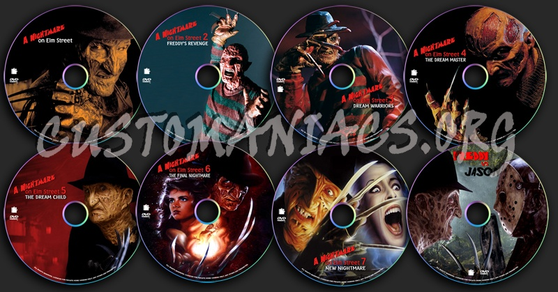 A Nightmare on Elm Street dvd label