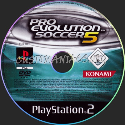 Pro Evolution Soccer 5 dvd label - DVD Covers & Labels by