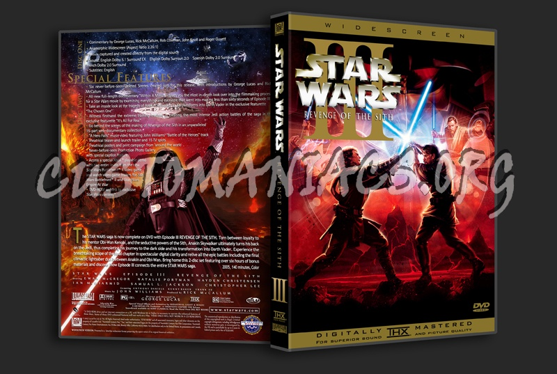 Star Wars Episode Iii Revenge Of The Sith Dvd Cover Dvd Covers Labels By Customaniacs Id 106057 Free Download Highres Dvd Cover