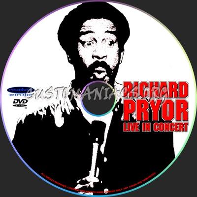 Richard Pryor Live in Concert dvd label