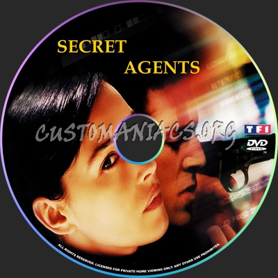 Secret Agents dvd label