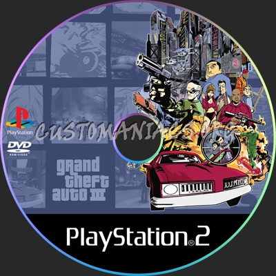 Grand Theft Auto 3 dvd label