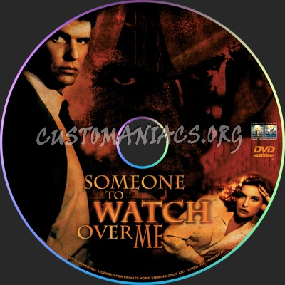 Someone to Watch Over Me dvd label