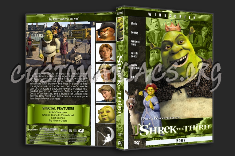 Shrek The Third 2007 Dvd Cover Dvd Covers Labels By Customaniacs Id 106440 Free Download Highres Dvd Cover