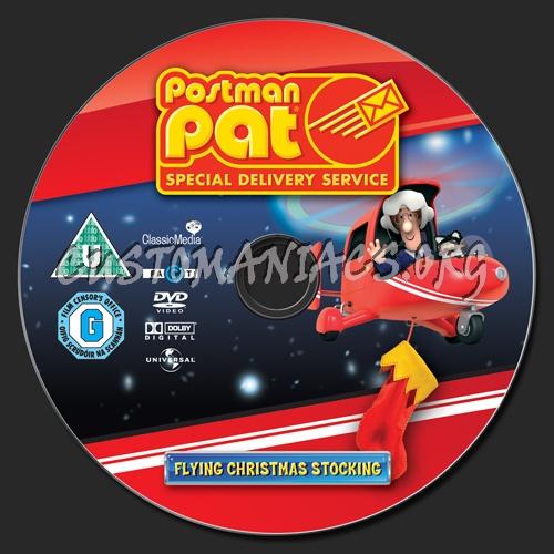 Postman Pat Flying Christmas Stocking dvd label
