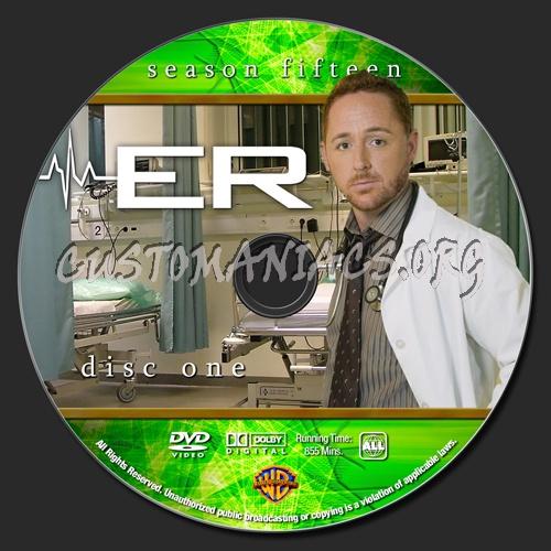 ER - Season 15 dvd label