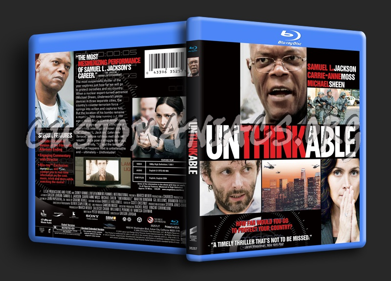 Unthinkable blu-ray cover