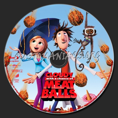 Cloudy With A Chance of Meatballs blu-ray label