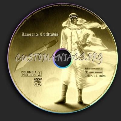 Lawrence Of Arabia dvd label
