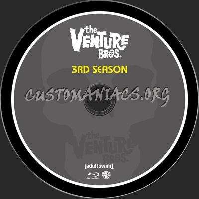 Venture Bros Season 3 blu-ray label