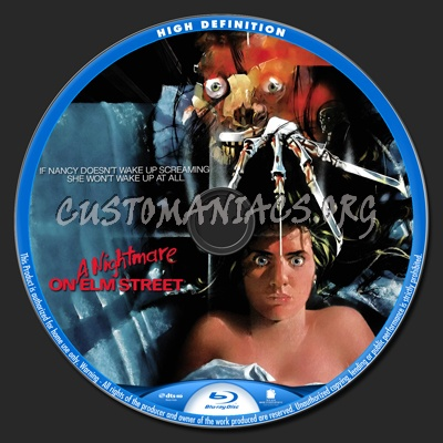 A Nightmare on Elm Street 1984 blu-ray label