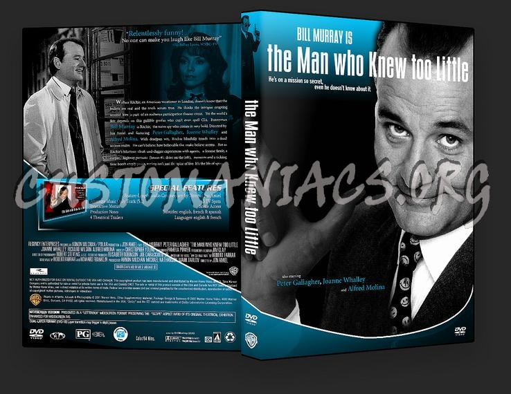 The Man Who Knew Too Little dvd cover