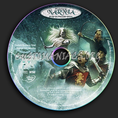 The Chronicles of Narnia dvd label