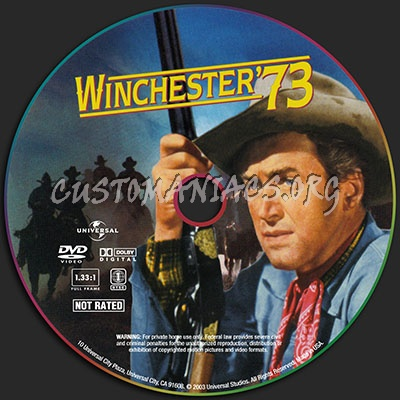 Winchester '73 dvd label
