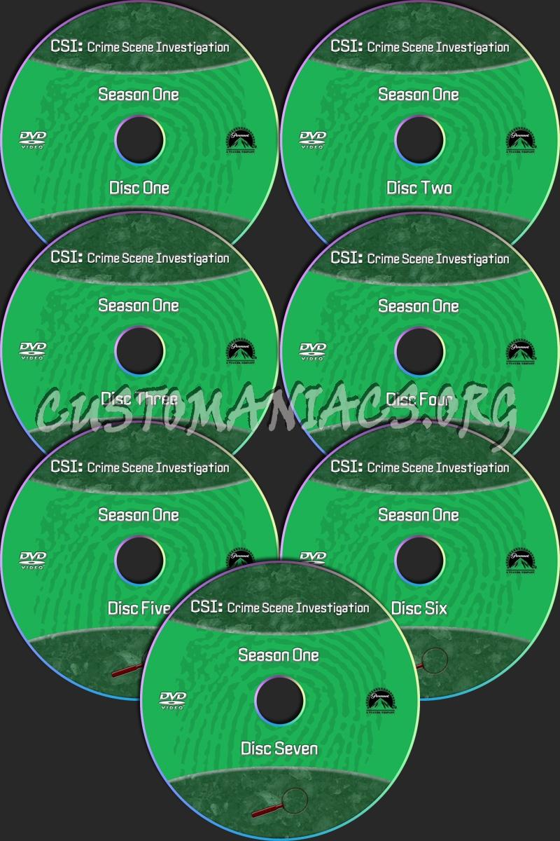 CSI Las Vegas dvd label