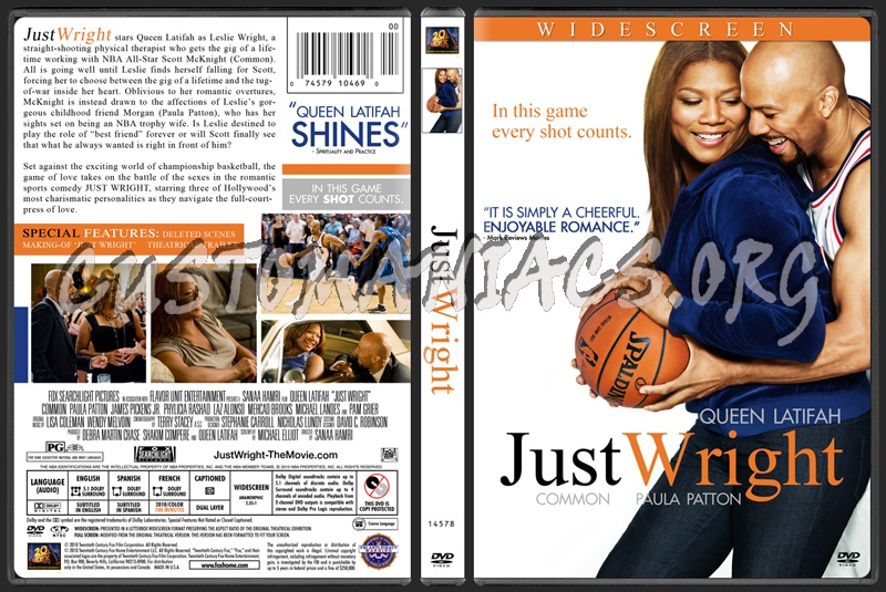 Just Wright dvd cover