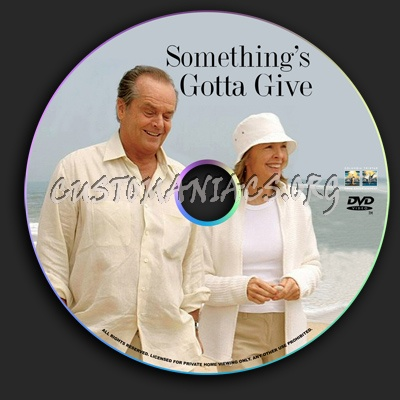 Somethings Gotta Give dvd label