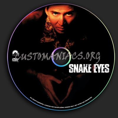 Snake Eyes dvd label