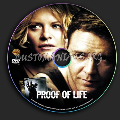 Proof of Life dvd label