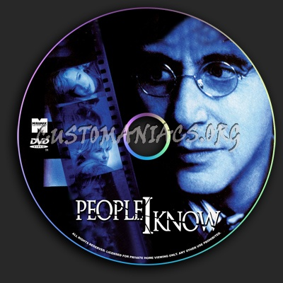 People I Know dvd label
