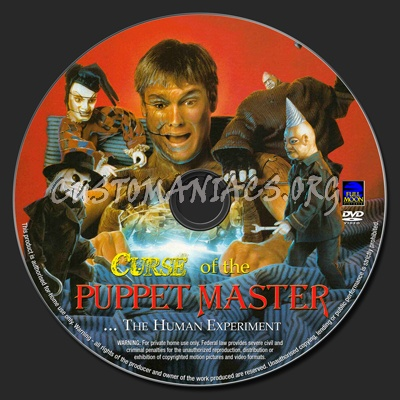 Curse of The Puppet Master dvd label