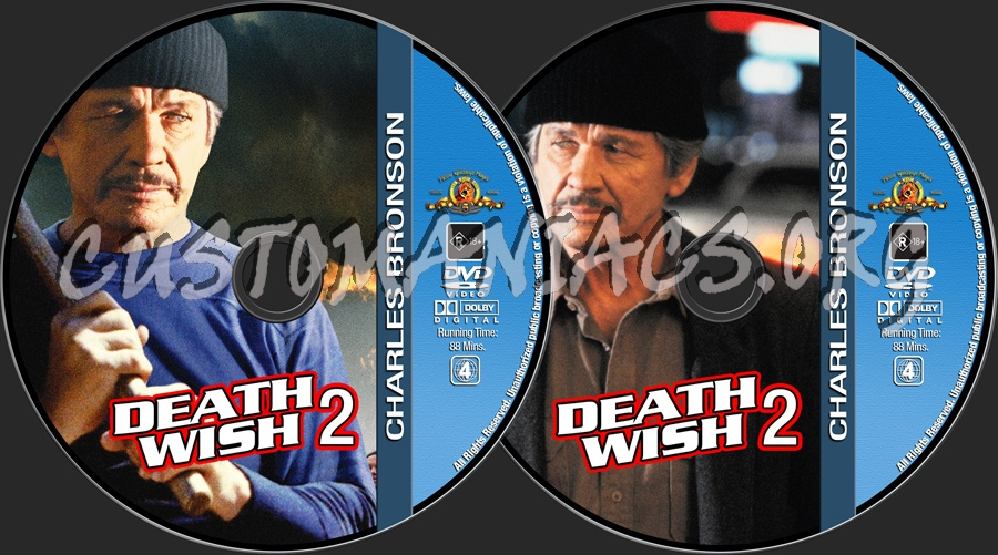 Charles Bronson Collection - Death Wish 2 dvd label