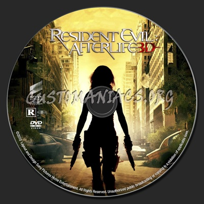 Resident Evil Afterlife dvd label