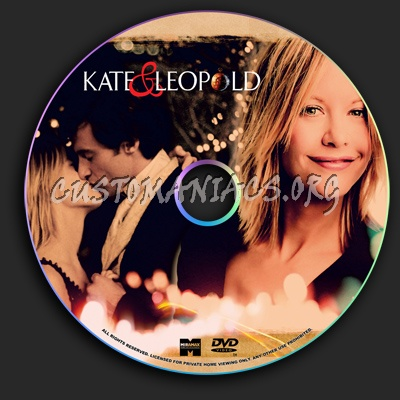 Kate and Leopold dvd label