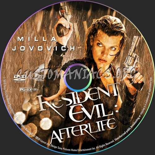 Resident Evil: Afterlife dvd label