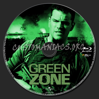 Green Zone blu-ray label