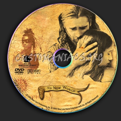 The New World dvd label