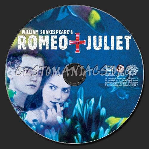 Romeo + Juliet dvd label