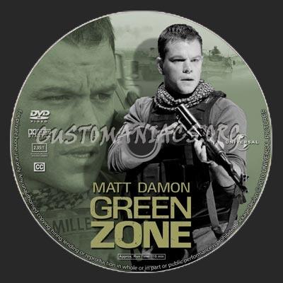 Green Zone dvd label