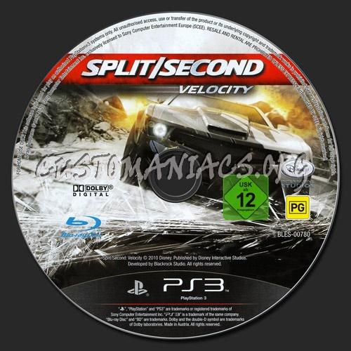 Split Second Velocity dvd label