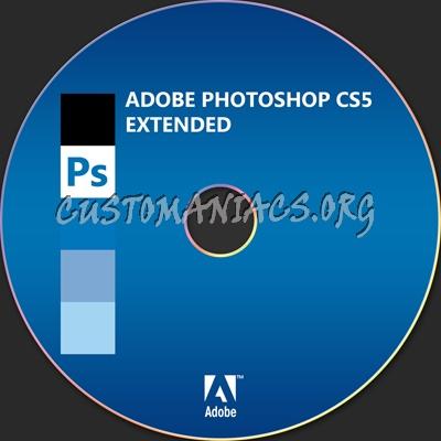 Adobe Photoshop CS5 Extended dvd label