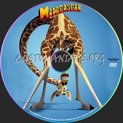 Madagascar dvd label