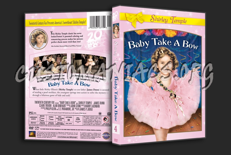 Baby Take A Bow dvd cover