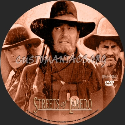 The Streets of Laredo dvd label