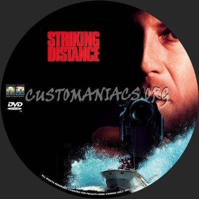 Striking Distance dvd label