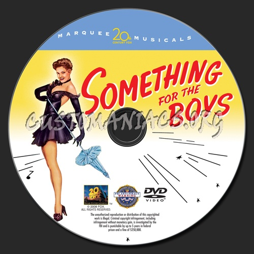 Something for the Boys dvd label