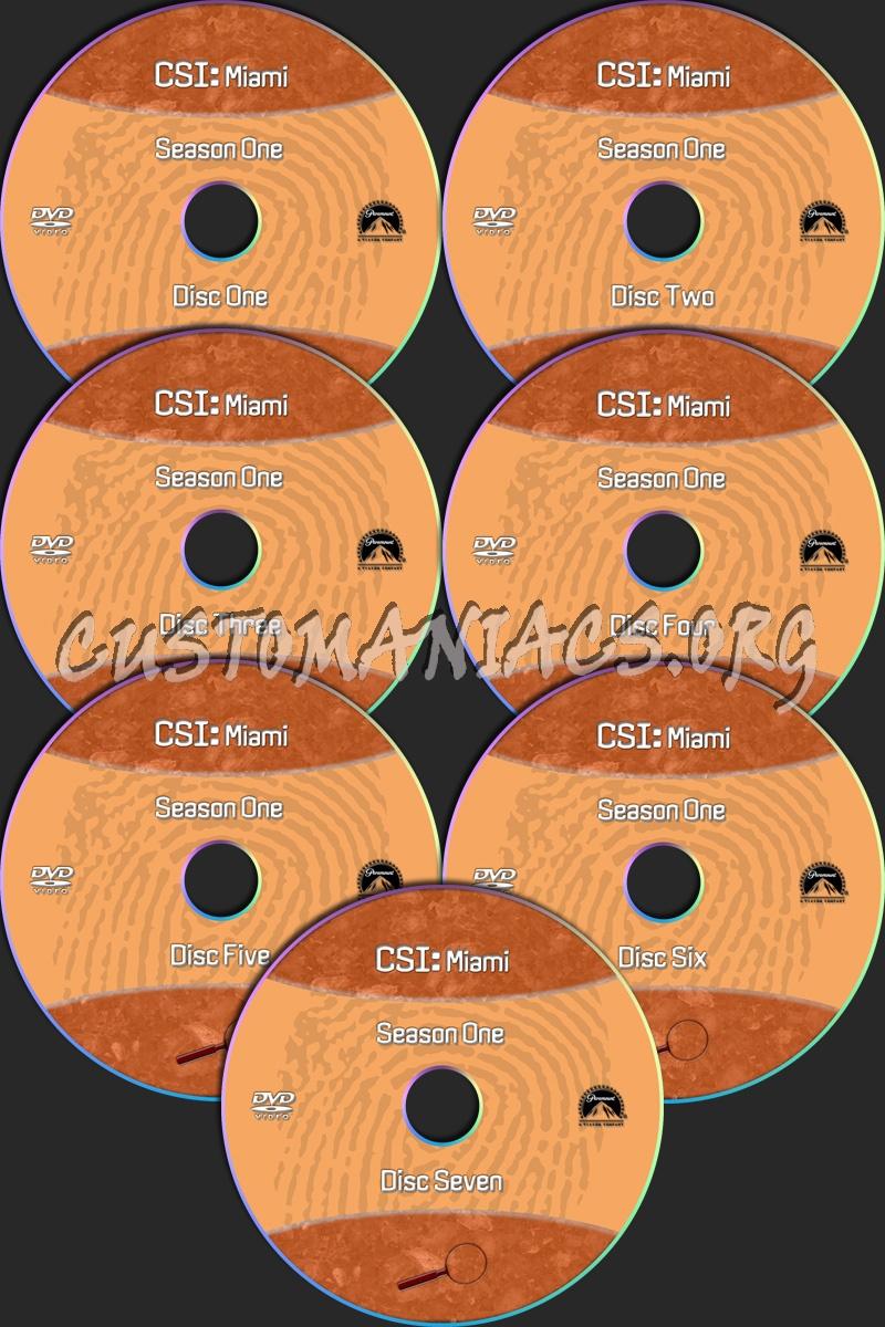 CSI Miami dvd label
