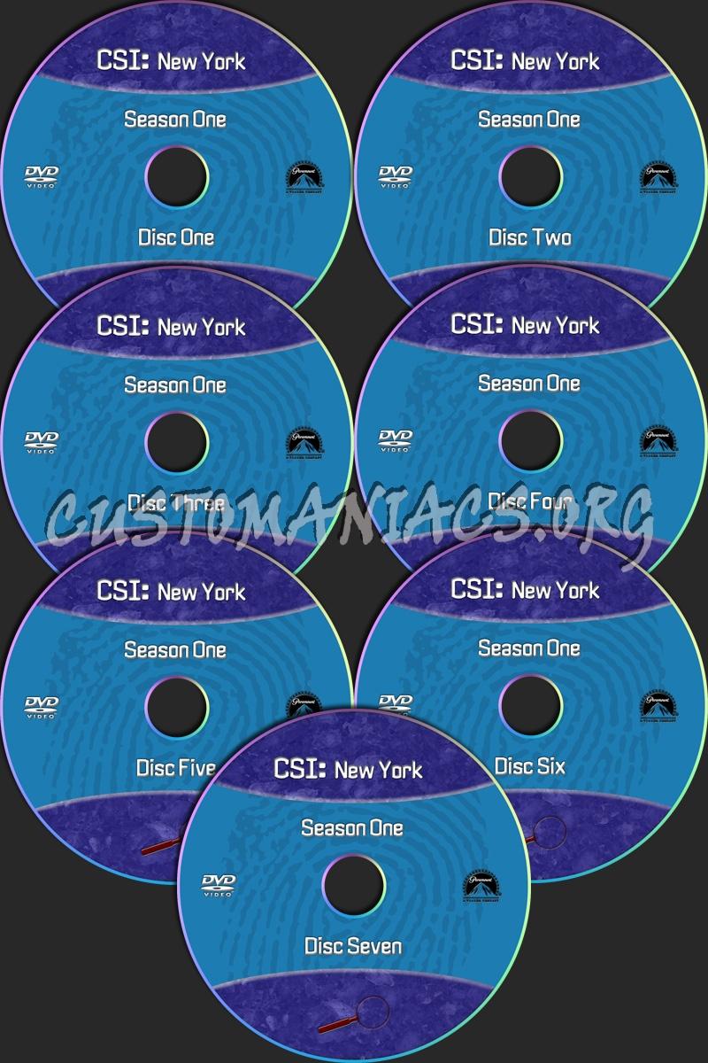 CSI New York dvd label
