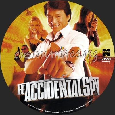 The Accidental Spy dvd label
