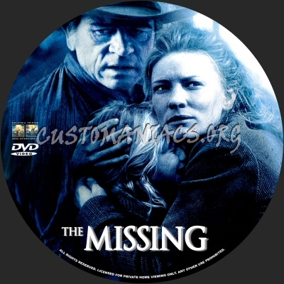The Missing dvd label