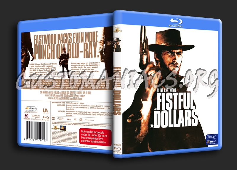 A Fistful of Dollars blu-ray cover