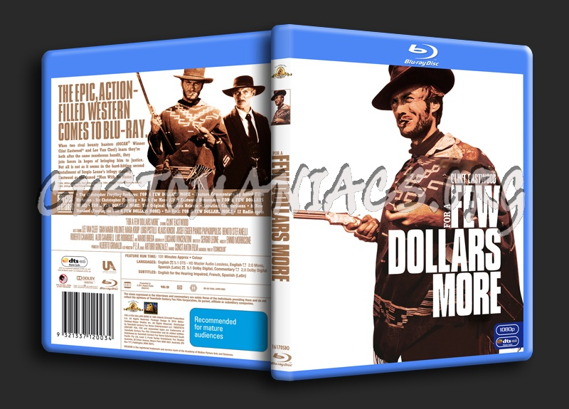 For A Few Dollars More blu-ray cover