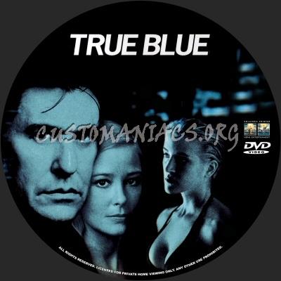 True Blue dvd label